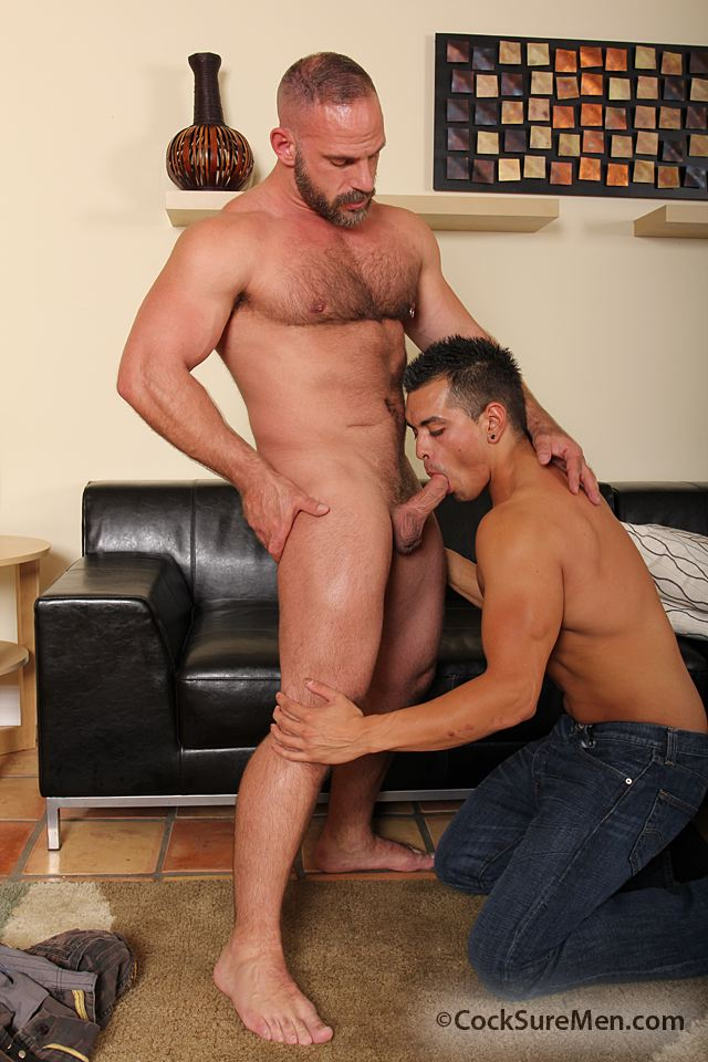 Cocksure-Men-Luis-Valentino-Samuel-Colt-Daddy-Son-Fucking-04 Daddy Fucks a Younger Guy and Shoots in his Mouth