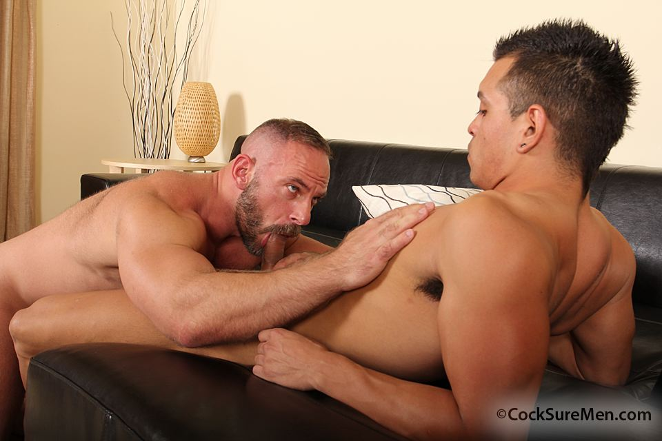 Cocksure-Men-Luis-Valentino-Samuel-Colt-Daddy-Son-Fucking-09 Daddy Fucks a Younger Guy and Shoots in his Mouth