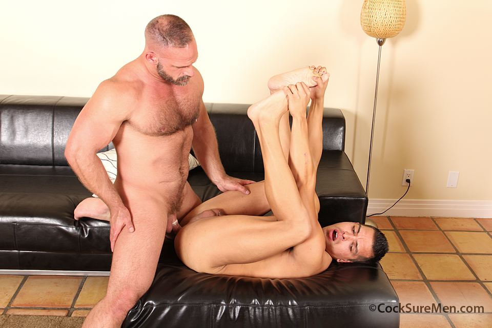 Cocksure-Men-Luis-Valentino-Samuel-Colt-Daddy-Son-Fucking-14 Daddy Fucks a Younger Guy and Shoots in his Mouth