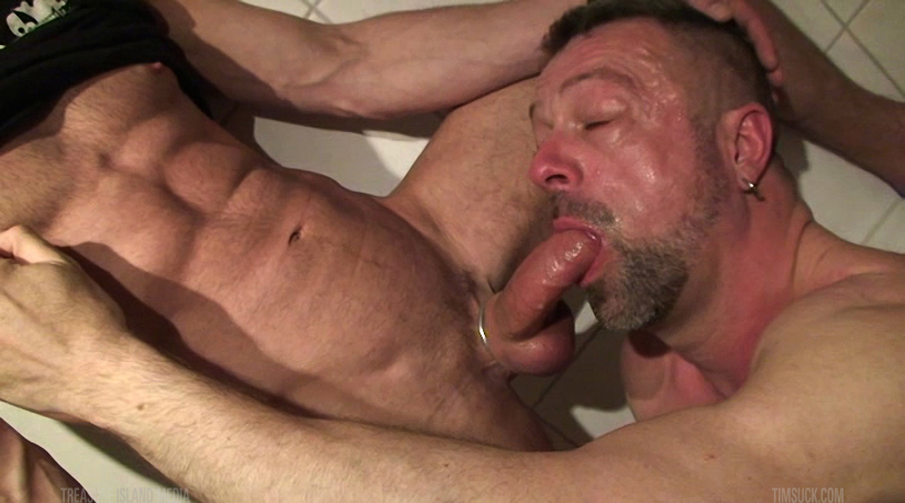 Gay dick sucking head holding