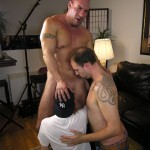 NewYorkStraightMen Rocco Trey JR Rimming Cock 08 150x150 Amateur Straight Muscle Daddy Gets Rimmed and Blown by Two Gay Guys