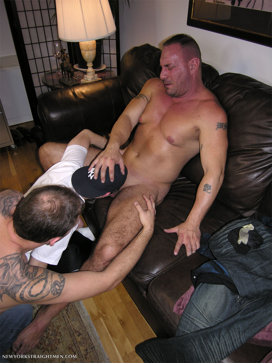 NewYorkStraightMen Rocco Trey JR Rimming Cock 10 Amateur Straight Muscle Daddy Gets Rimmed and Blown by Two Gay Guys