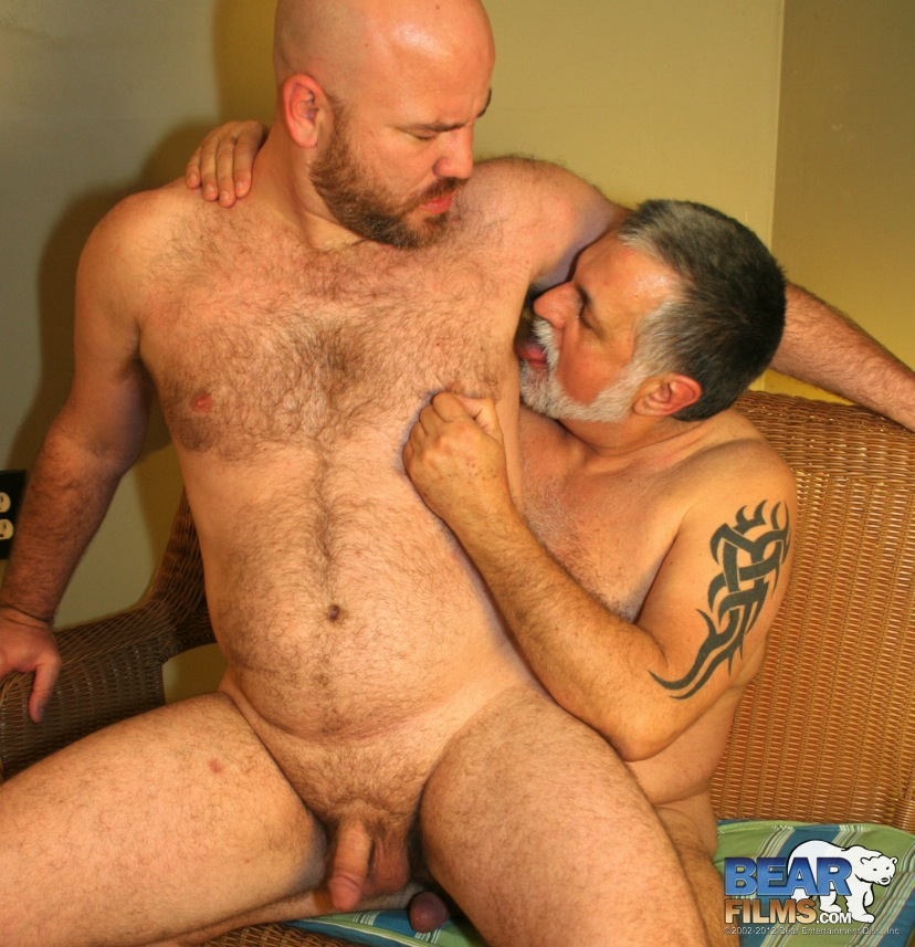 Bear-Films-Latin-Wolf-and-Jose-Lasano-daddy-fuck-10 Chubby Latin Daddy Bear Rims and Fucks His Chubby Latin Cub