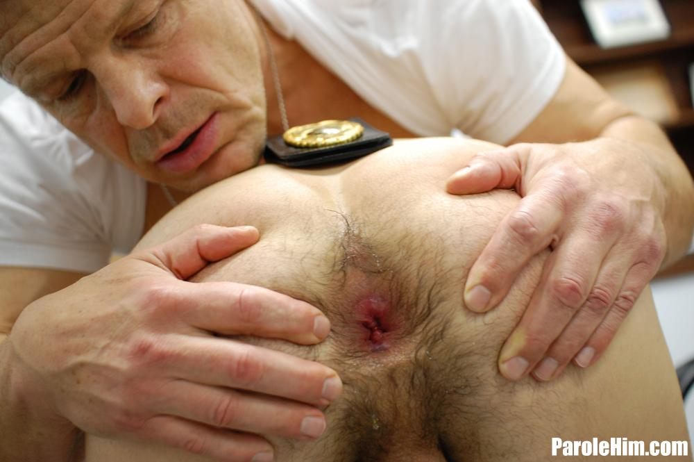 ParoleHim Michael Covington gets barebacked by a thick cock parole officer 15 Thick Cock Muscle Parole Officer Barebacks A Tight Young Straight Criminal