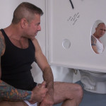 Raw-and-Rough-Jason-Mitchell-Mason-Garet-Nick-Moretti-and-Cope-Truck-Stop-Sex-Piss-play-04-150x150 Piss And Cock Play In A Truck Stop Bathroom With Four Truckers