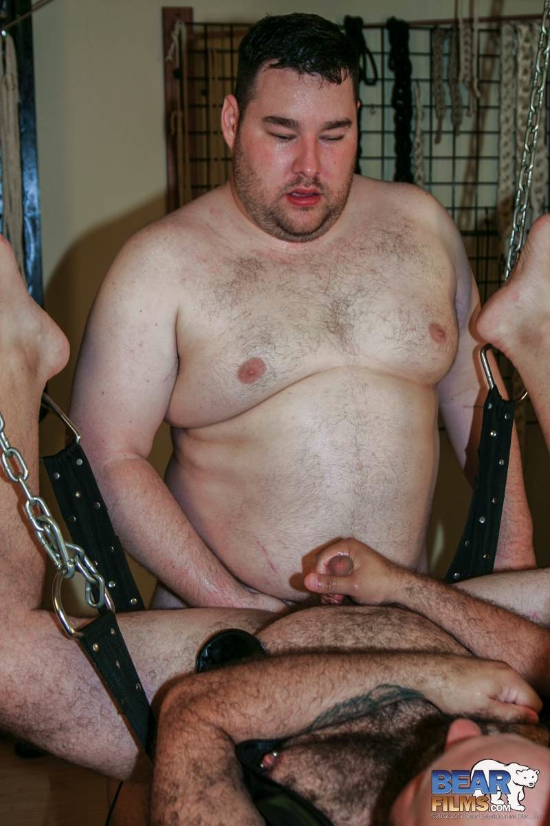 Bear Films Don James and Michael McQuaig chubby hairy bears barebacking Amateur Gay Porn 12 Amateur Chubby Hairy Bears Barebacking in the Sling