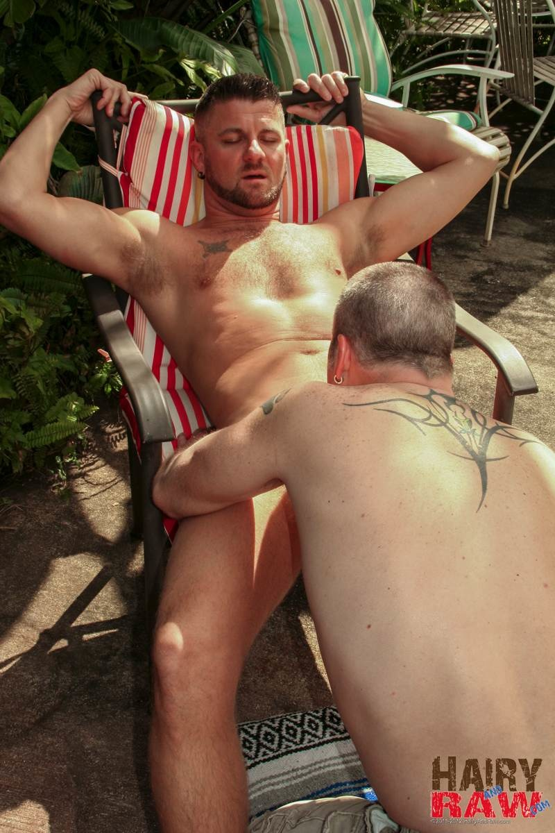 Hairy and Raw Christian Matthews and Alex Powers Hairy Daddy Bears Barebacking Outside Amateur Gay Porn 01 Amateur Hairy Daddy Barebacks His Younger Friend In the Backyard
