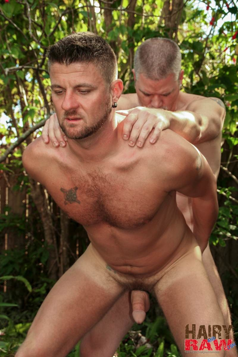 Hairy and Raw Christian Matthews and Alex Powers Hairy Daddy Bears Barebacking Outside Amateur Gay Porn 09 Amateur Hairy Daddy Barebacks His Younger Friend In the Backyard