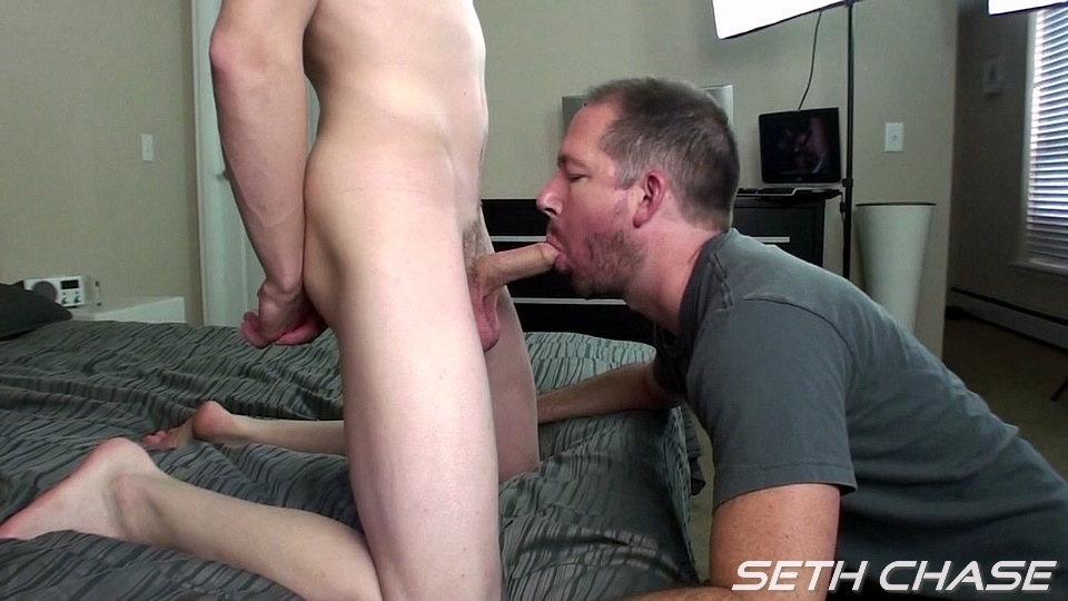 Seth Chase Daddy taking a bareback load from a younger guy up his ass Seth and Kyle Amateur Gay Porn 06 Daddy Takes His First Ever Bareback Load Up His Ass From a Young Stud