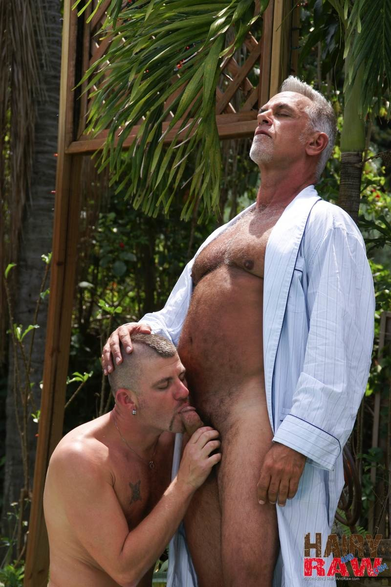 Hairy-and-Raw-Daddy-Jeff-Grove-and-Christian-Matthews-Bareback-BBBH-Amateur-Gay-Porn-02 Amateur Hairy Silver Daddy With Thick Cock Barebacks His Hung Pool Boy