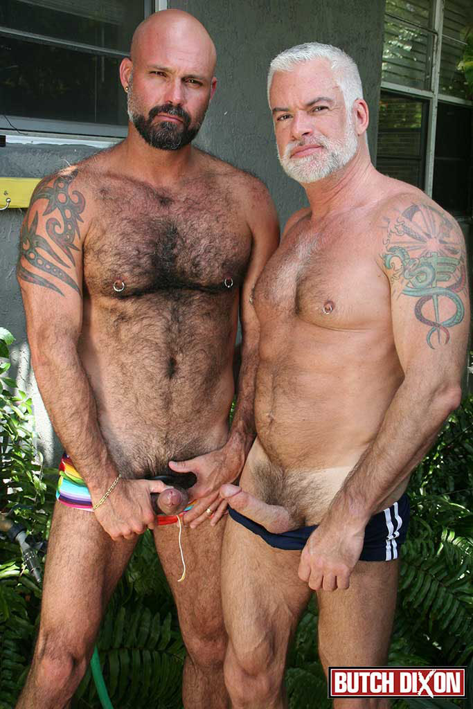 Butch Dixon Jake Marshall and Marco Rios Silver Daddy Fucks His Cub Amateur Gay Porn 06 Muscle Silver Daddy Jake Marshall Fucks His Younger Hairy Boyfriend