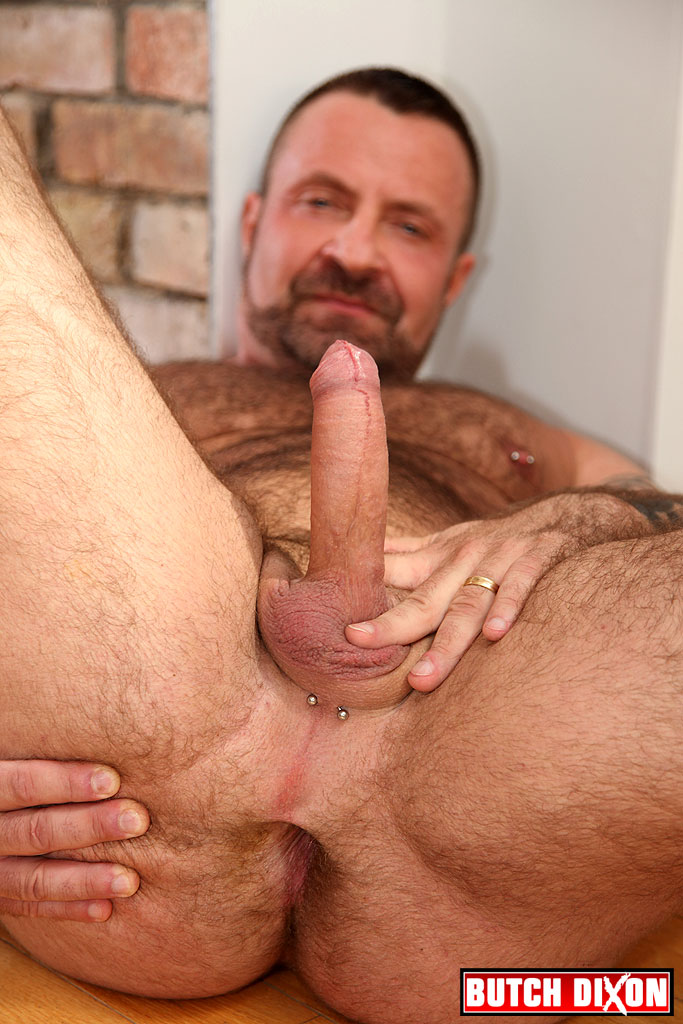 Butch Dixon Marc Angelo Muscle Bear Masturbating Big Uncut Cock Amateur Gay Porn 02 Hairy Canadian Muscle Daddy Bear Strokes His Big Uncut Cock