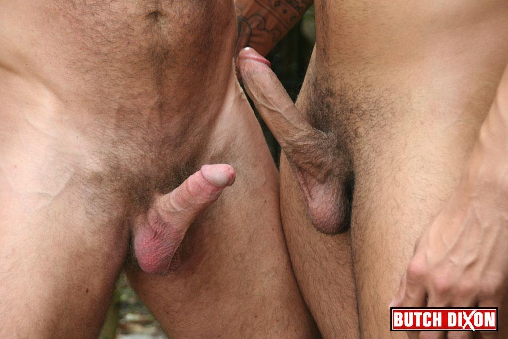 Butch Dixon Rikk York and Matt Stevens Hairy Daddy and Younger Guy Trade Blow Jobs Amateur Gay Porn 06 Hairy Beefy Muscle Daddy Fucking His Younger Buddy Outside