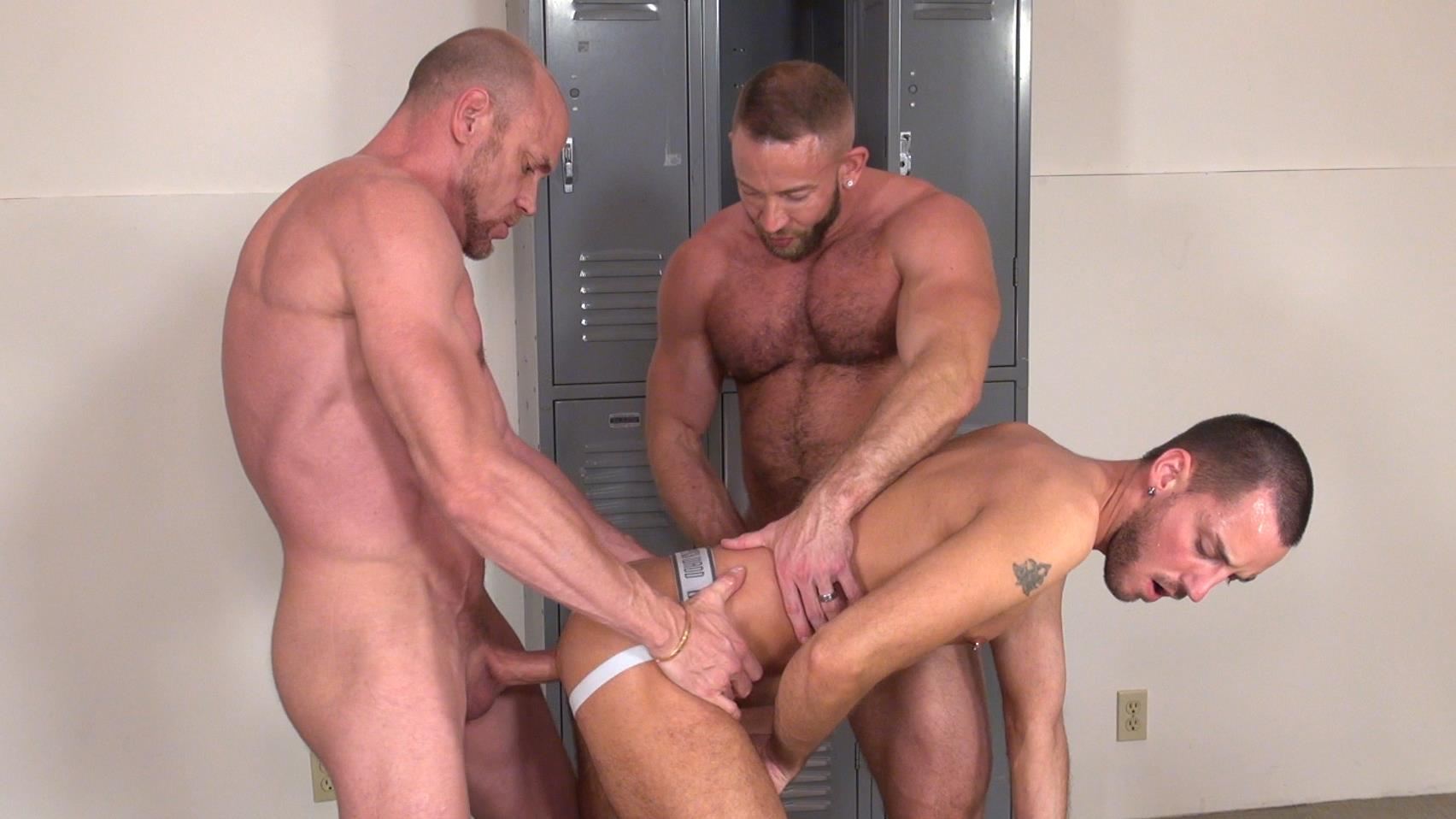 Raw and Rough Gio Ryder and Shay Michaels and Parker Jock Gets barebacked by two muscle daddy Amateur Gay Porn 10 Jock Sniffing Slut Gio Ryder Takes Bareback Cocks Up The Ass