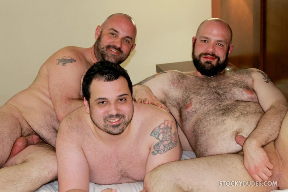 Raw Chubby Bears Threesome