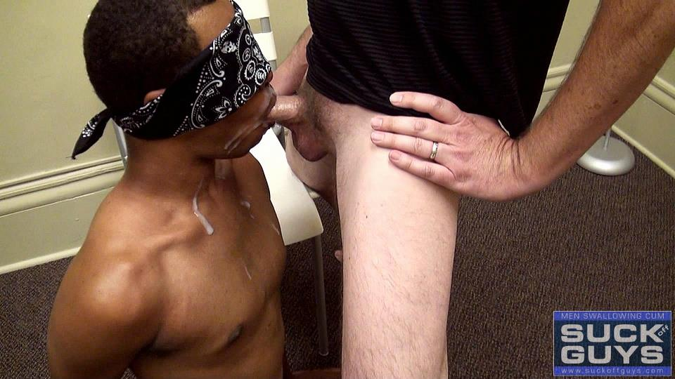 Suck Off Guys Brandon Anonymous Black Guy Sucking A White Daddy Cock Eating Cum Amateur Gay Porn 39 Young Blindfolded Black Guy Sucking On A Hairy Daddy Cock