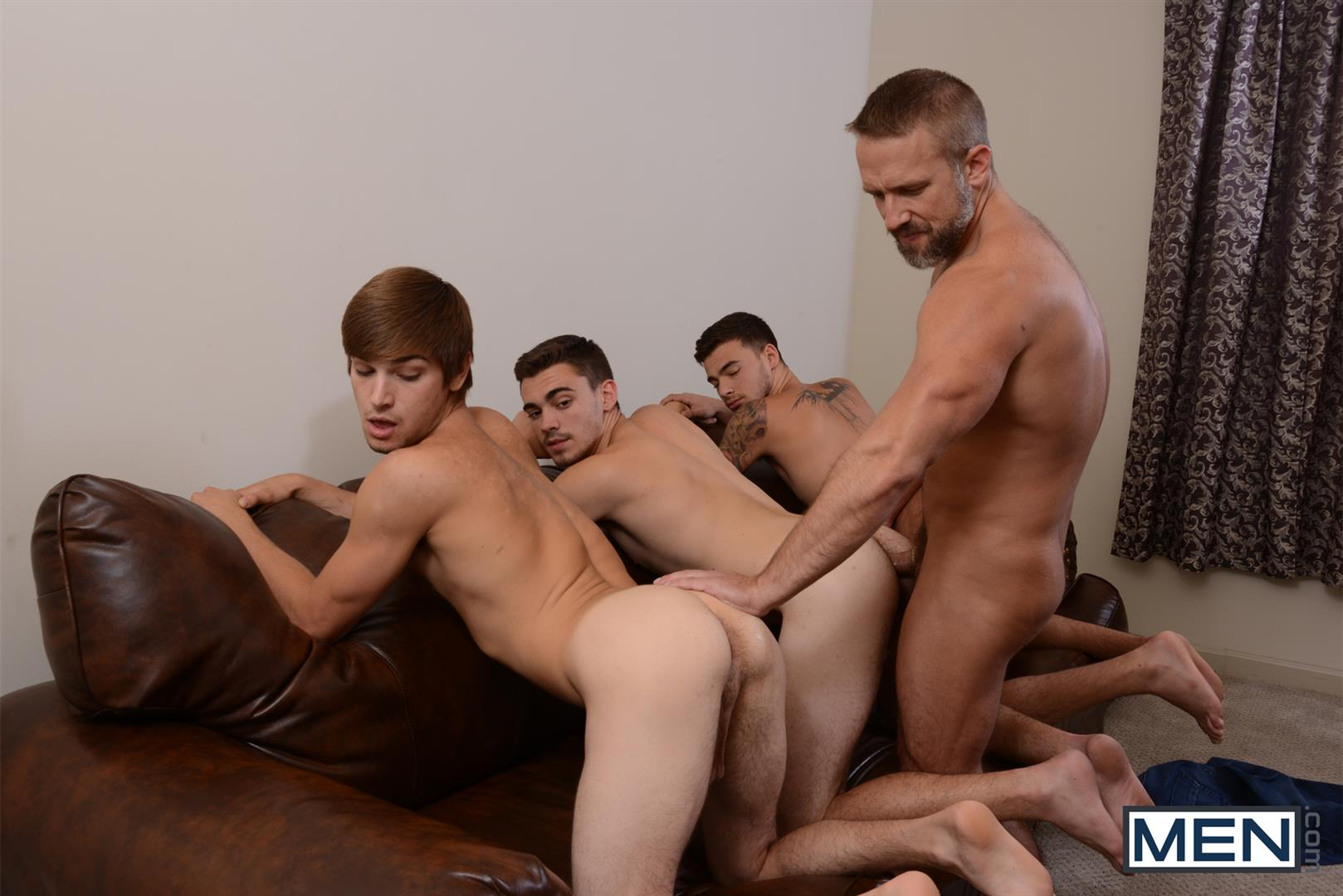 Men Jizz Orgy Asher Hawk and Dirk Caber and Johnny Rapid and Trevor Spade Triple Penetrated In the Ass Amateur Gay Porn 13 Stepfather Dirk Caber Gets TRIPLE Penetrated By His Stepsons