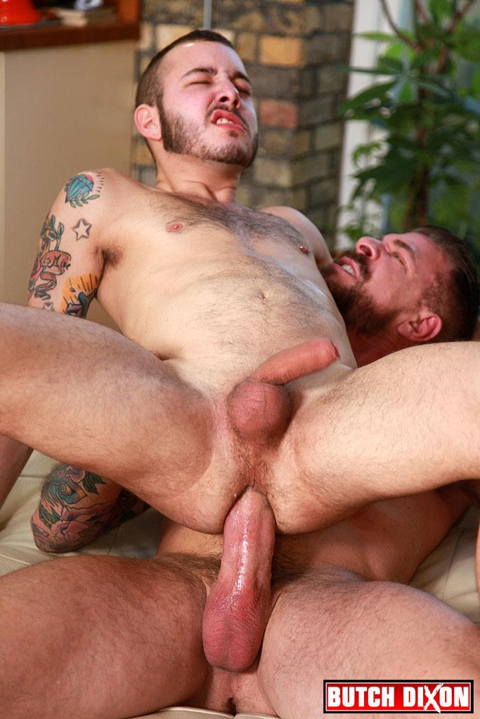 Butch Dixon Rocco Steele and Damian Gomez Uncut Cock Guy Gets barebacked by huge cock daddy Amateur Gay Porn 18 Uncut Cock Cub Gets Fucked By A Huge Muscle Daddy Cock