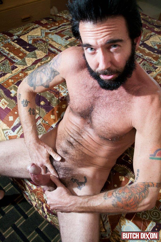 Butch-Dixon-Tom-Nero-Hairy-Daddy-Jerking-Off-A-Big-Fat-Mushroom-Head-Cock-Amateur-Gay-Porn-07 Hairy Stud Tom Nero Jerking His Thick Mushroom Head Cock