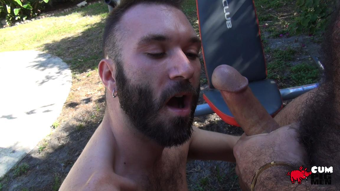 Cum-Pig-Men-Alessio-Romero-and-Ethan-Palmer-Hairy-Muscle-Latino-Daddy-Cocksucking-Amateur-Gay-Porn-13 Hairy Latino Muscle Daddy Gets A Load Sucked Out And Eaten