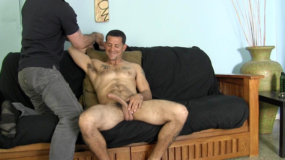guy is angry when guys sucks his cock