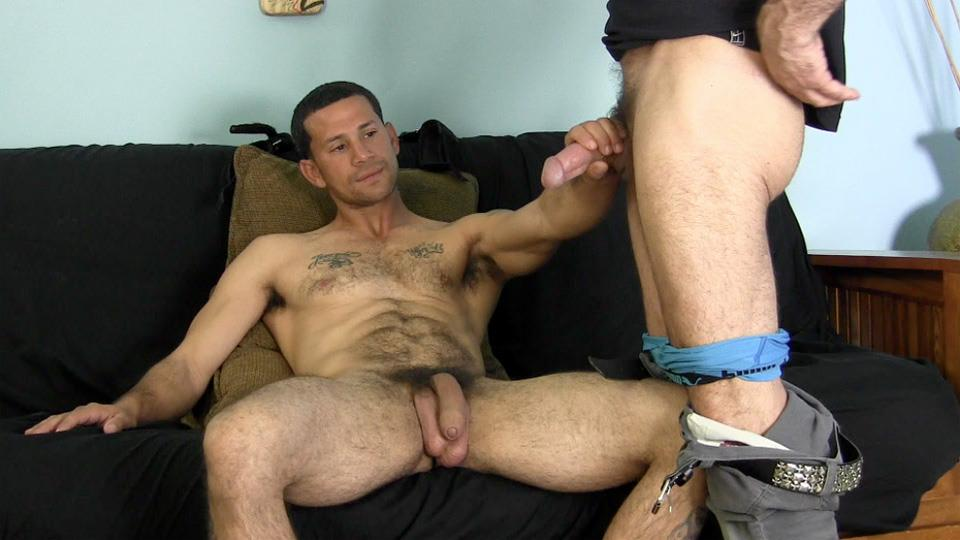 hot straight guy cums after getting blowjob