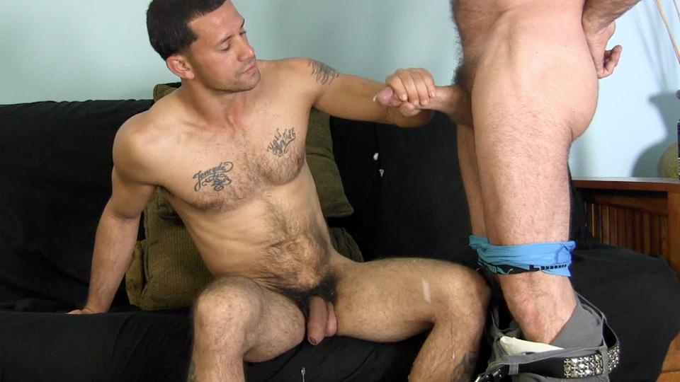 Guys taking first cock