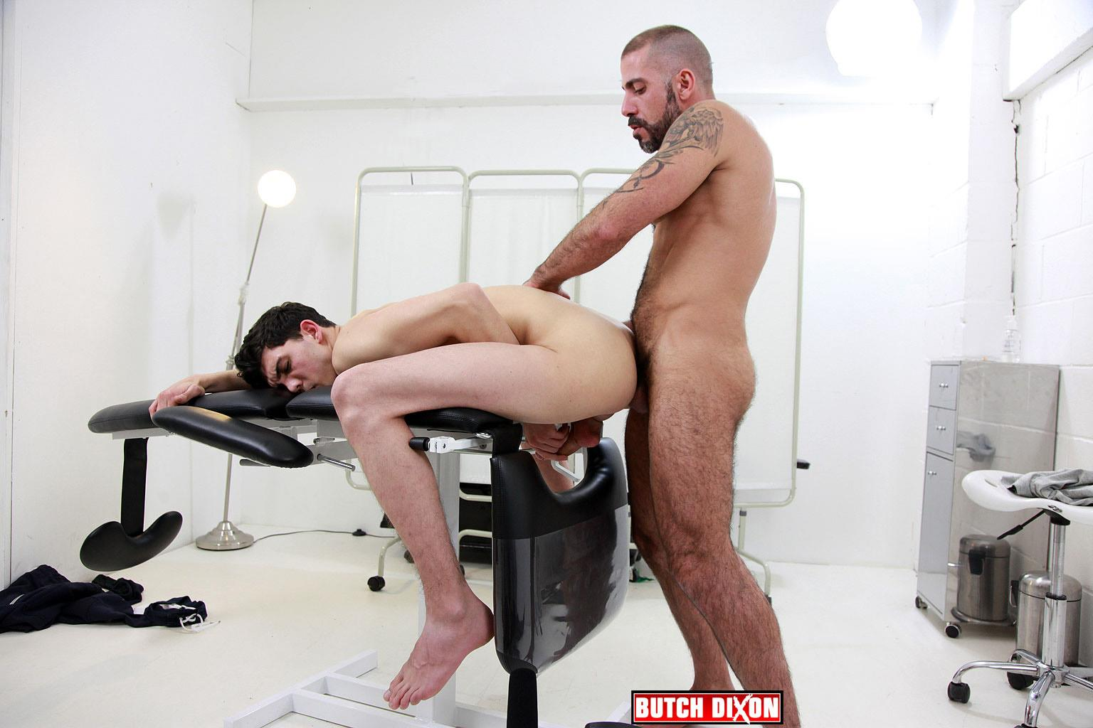 Butch-Dixon-Michel-Rudin-and-Luke-Tyler-Big-Uncut-Cock-Fucking-Amateur-Gay-Porn-21 Hairy Muscle Hunk With A Big Uncut Cock Fucking A Smooth Younger Guy