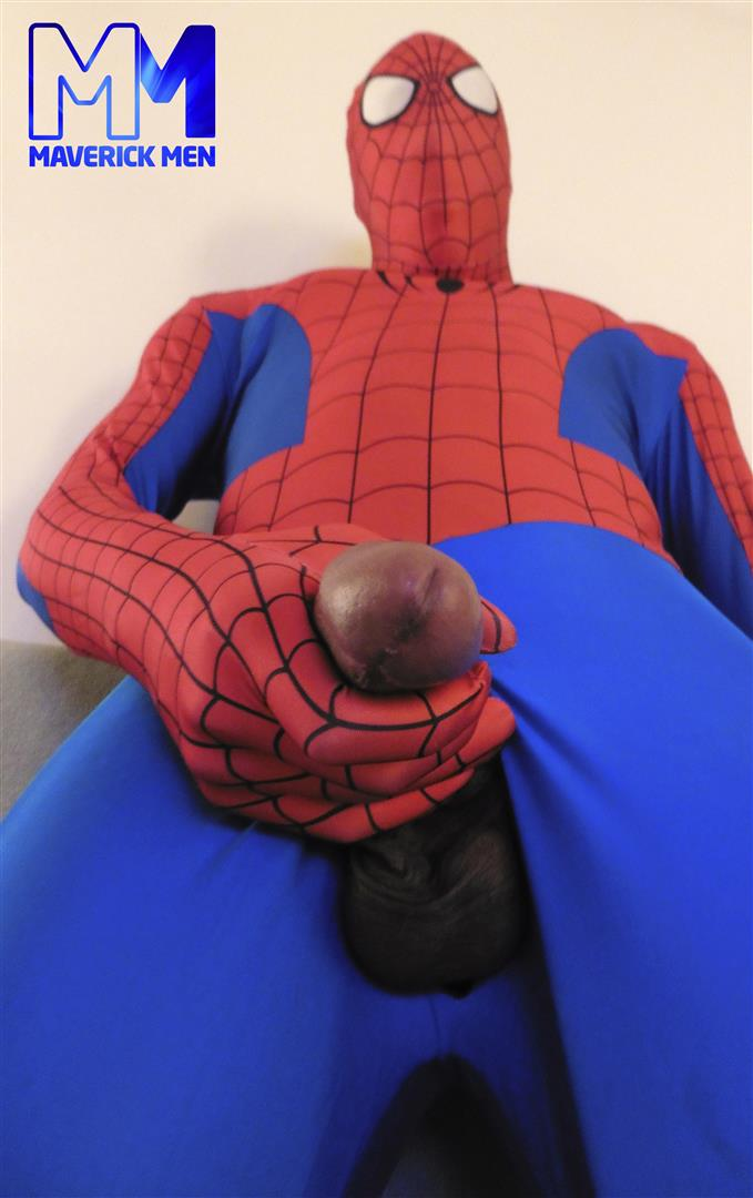 Maverick Men Spiderman With A Big Black Dick Bareback Threesome Amateur Gay Porn 08 Happy Halloween... Did You Know That Spiderman Has A Big Black Dick?