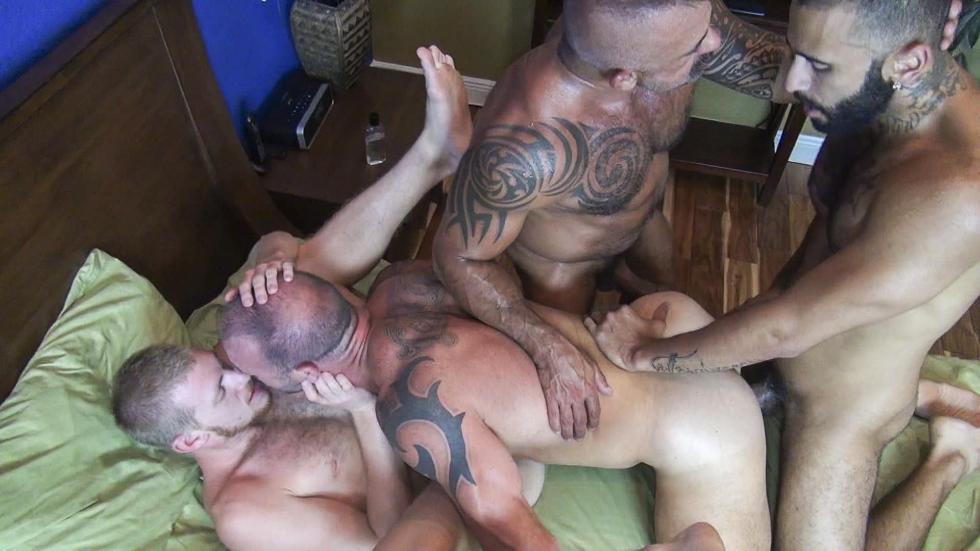 Raw Fuck Club Vic Rocco and Rikk York and Billy Warren and Job Galt Bareback Daddy Amateur Gay Porn 11 Four Hairy Muscle Daddies In A Bareback Fuck Fest Orgy
