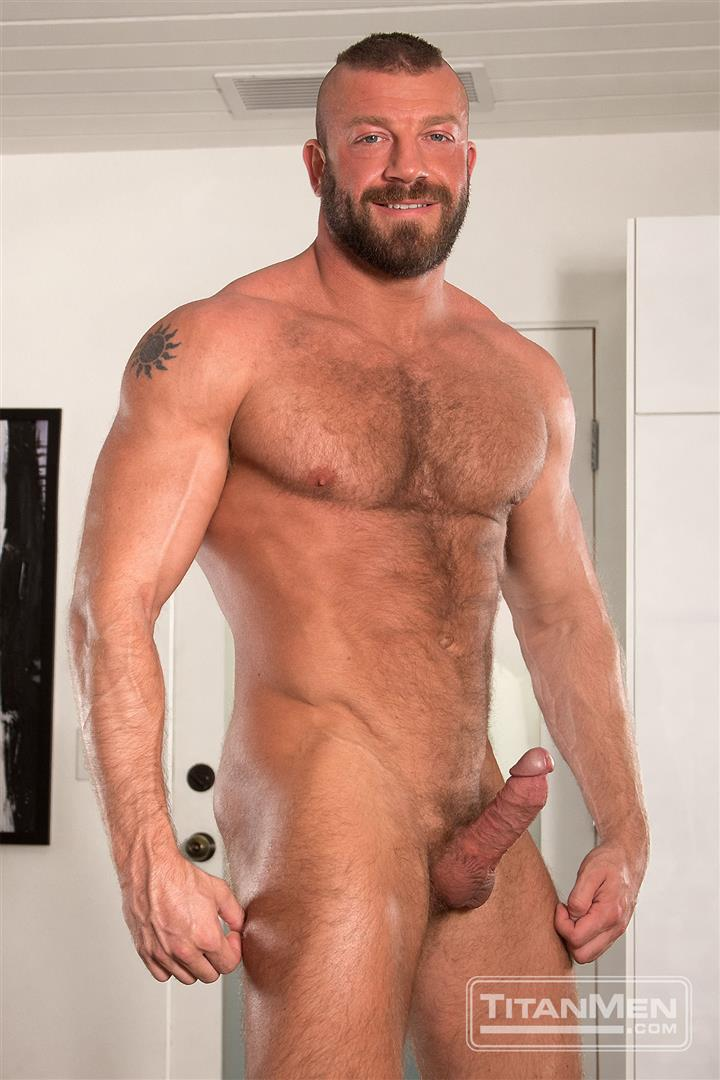 Titanmen Titan Hunter Marx and Dirk Caber Hairy Muscle Daddy Fuck Amateur Gay Porn 14 Dirk Carber Gets Fucked Hard By Another Muscle Daddy With A Thick Cock