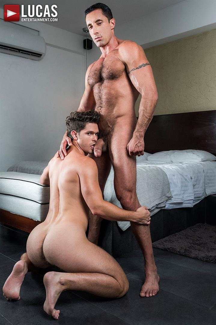 Lucas-Entertainment-Nick-Capra-and-Devin-Franco-Hairy-Muscle-Daddy-Bareback-07 Devin Franco Getting Fucked Raw By Hairy Muscle Daddy Nick Capra