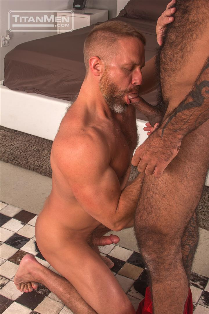 Titan-Men-Dirk-Caber-and-Daymin-Voss-Hairy-Muscle-Daddy-and-Big-Black-Dick-Fucking-01 Hairy Muscle Daddy Dirk Caber Flip Fucking With Hairy Black Muscle Hunk Daymin Voss