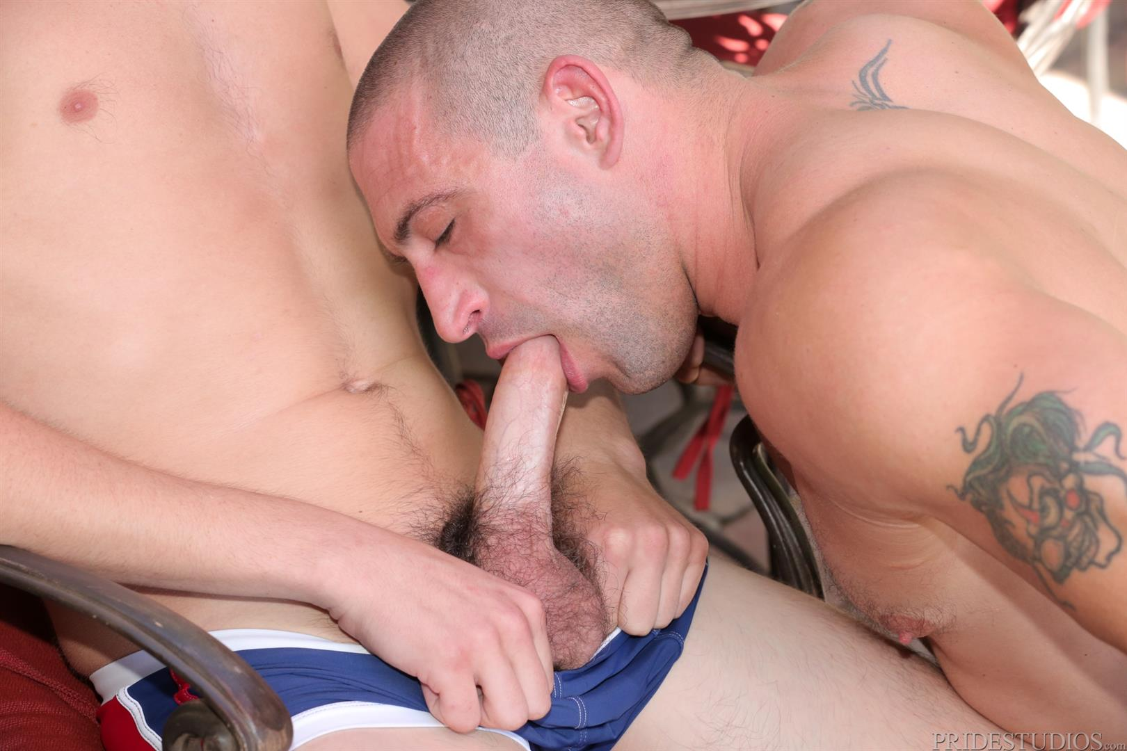 Dylan-Lucas-Timothy-Rivers-and-Ceasar-Camaro-Younger-Guy-Fucking-A-Muscle-Daddy-06 Muscular Pool Daddy Takes A Younger Cock Up The Ass At A Palm Springs Gay Resort