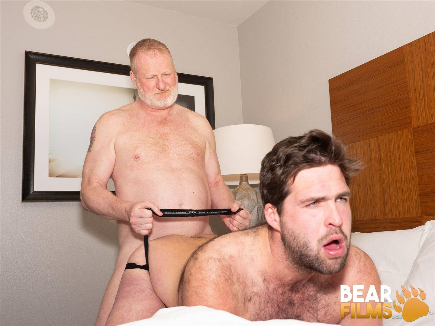 Bear-Films-Rusty-McMann-and-John-Pucker-Daddy-Bareback-Fucking-Younger-Cub-Video-24 Ginger Daddy Bareback Fucking A Hairy Chubby Cub