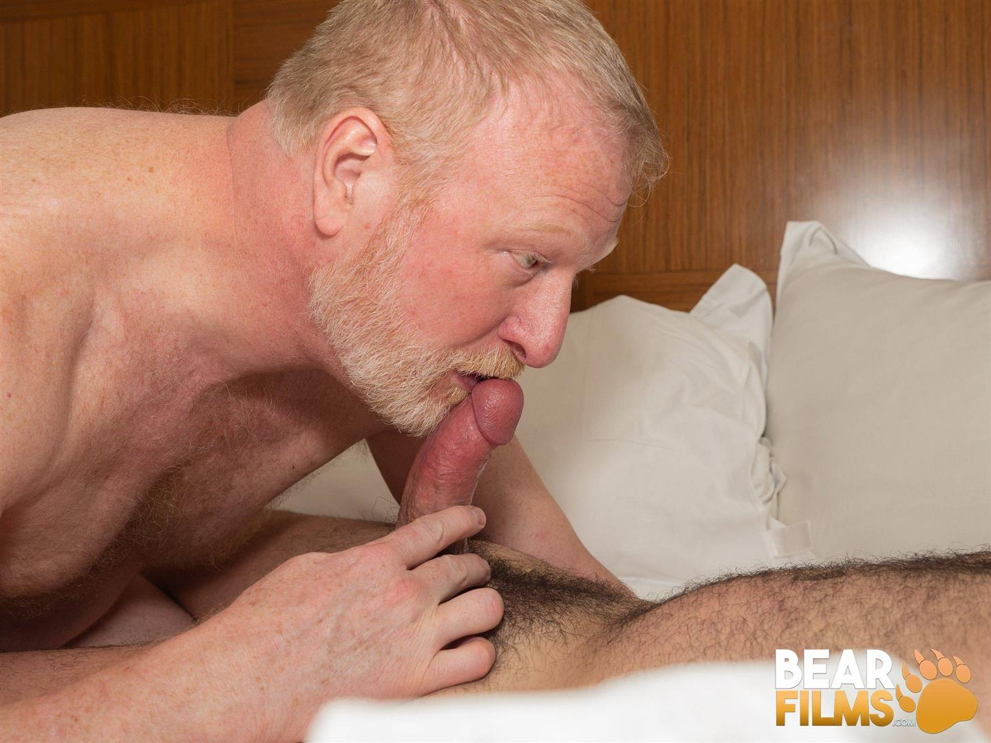 Bear-Films-Rusty-McMann-and-John-Pucker-Daddy-Bareback-Fucking-Younger-Cub-Video-30 Ginger Daddy Bareback Fucking A Hairy Chubby Cub