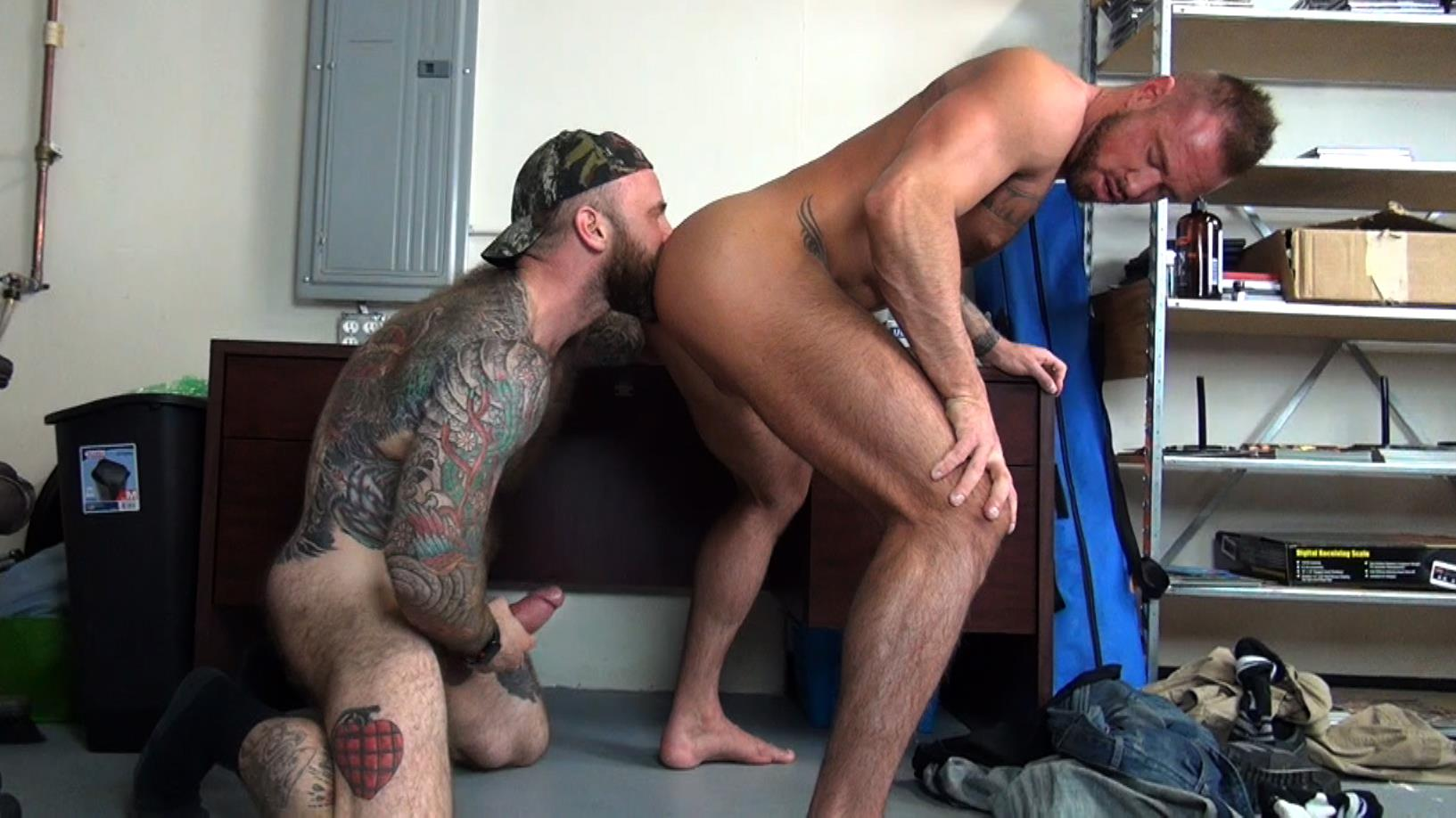 Raw-Fuck-Club-Jack-Dixon-and-Michael-Roman-Hairy-Muscle-Daddy-Bareback-Gay-Sex-Video-02 Taking A Raw Ride On Jack Dixon's Big Fat Daddy Cock