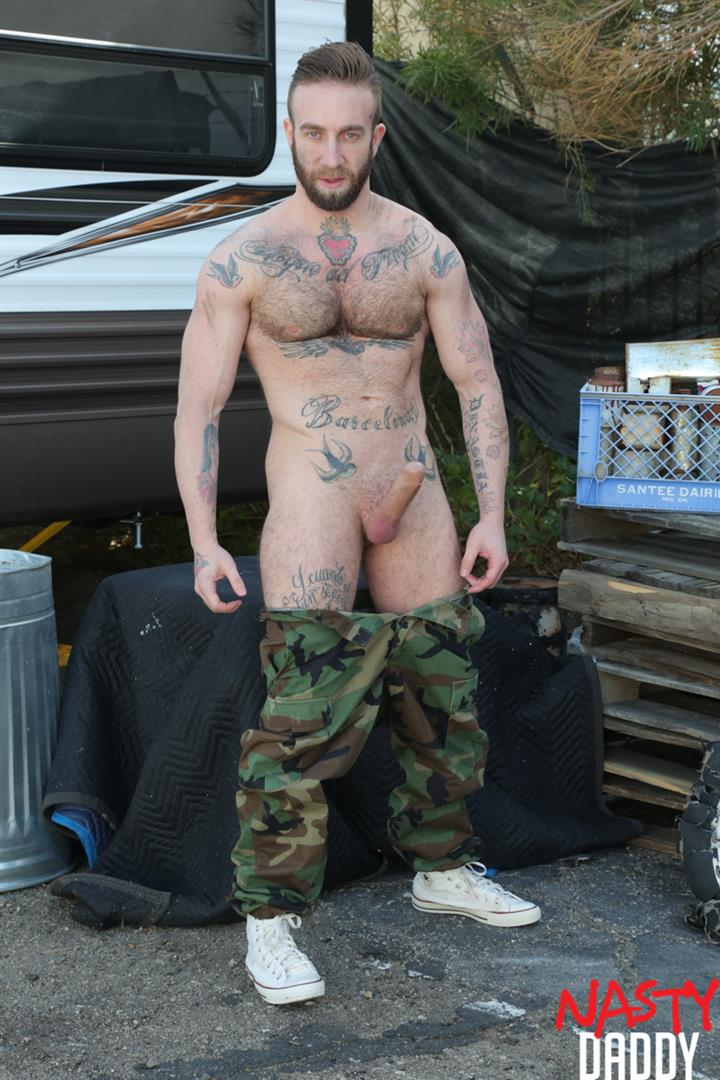 Nasty-Daddy-Manuel-Salco-and-Stephan-Raw-Big-Uncut-Dick-Daddies-Bareback-Sex-04 Big Uncut Dick Daddies Fucking Bareback At A Junkyard