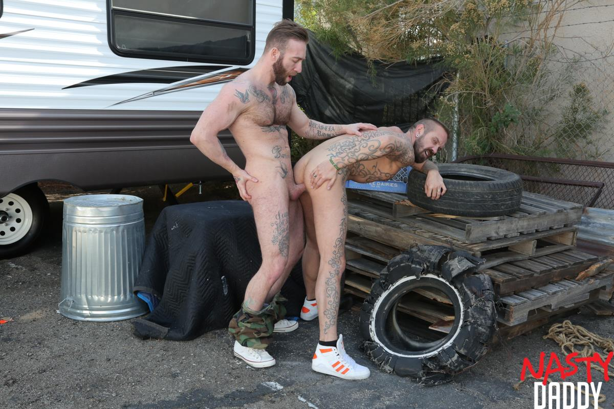 Nasty-Daddy-Manuel-Salco-and-Stephan-Raw-Big-Uncut-Dick-Daddies-Bareback-Sex-10 Big Uncut Dick Daddies Fucking Bareback At A Junkyard